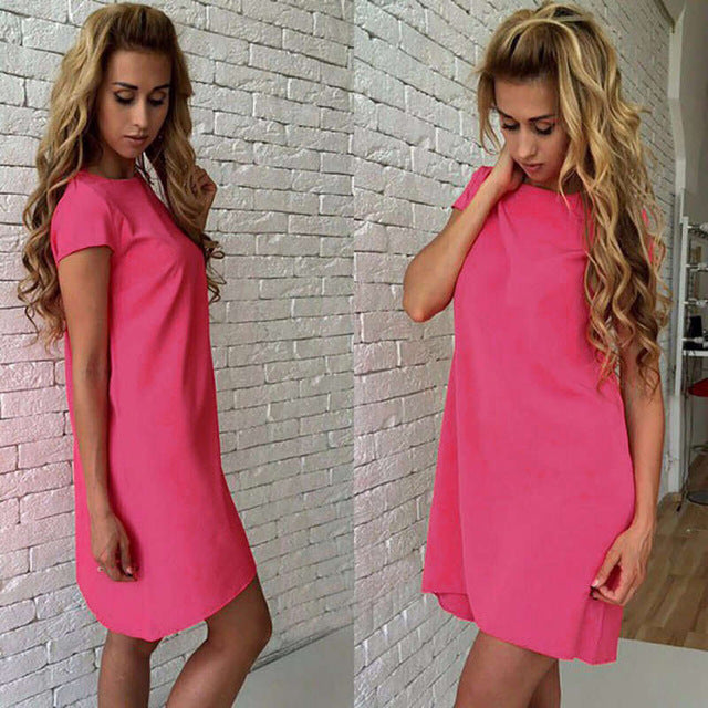 Short Sleeve Casual Mini Dress