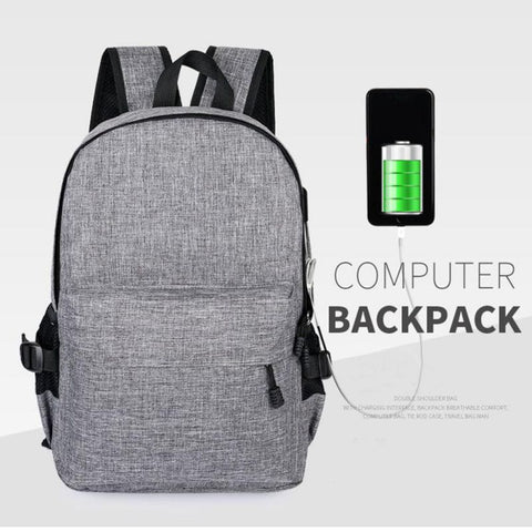 Image of CASUAL BACKPACK WITH USB CHARGER