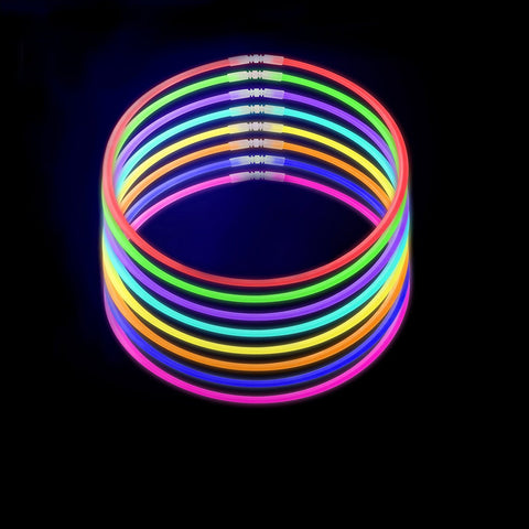 10-Pack Led Bracelets Glow Stick Necklaces