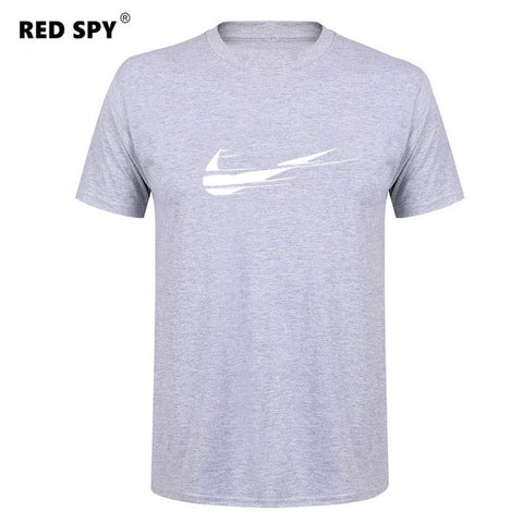 Logo Print Casual Men's T-shirt