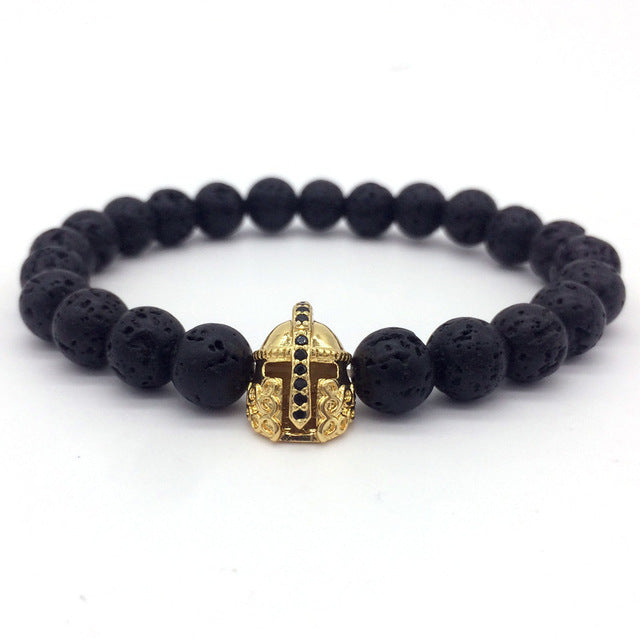 Imperial Crown and Helmet Charm Bracelet