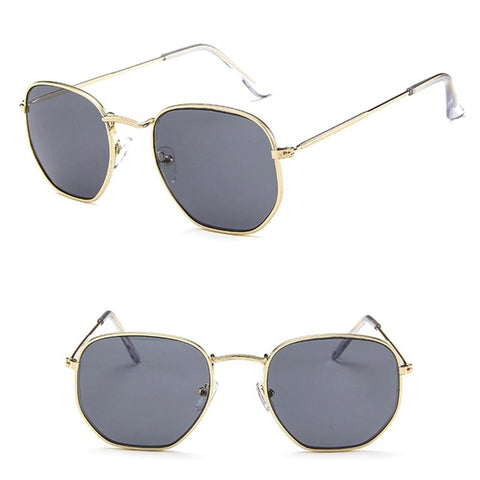 Retro Metal Rimmed Sunglasses