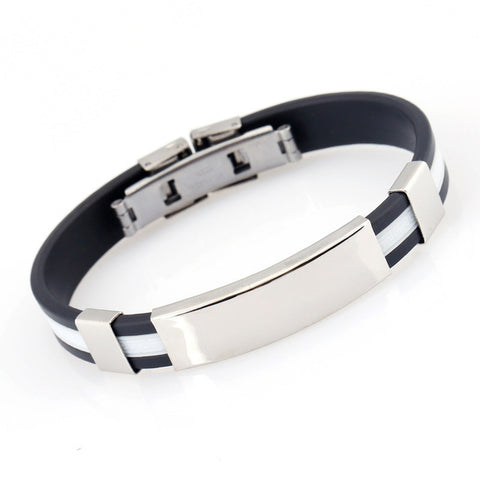 Image of Stainless Steel Logo Bracelets