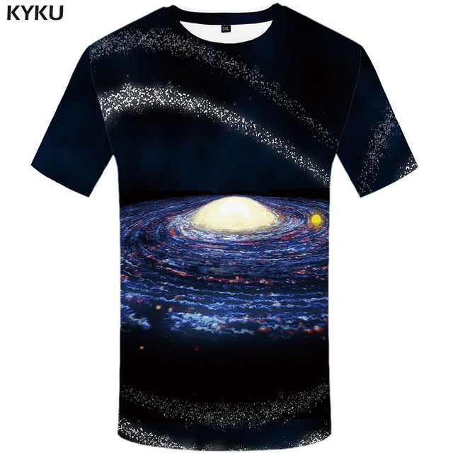 Galaxy 3D Blue Sky T-Shirt - 20 Styles to Choose From