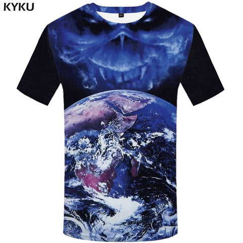 Image of Galaxy 3D Blue Sky T-Shirt - 20 Styles to Choose From