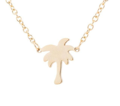 Palm Tree Choker Necklace