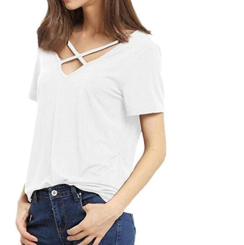 Image of Sexy Backless Women's Casual T-Shirt