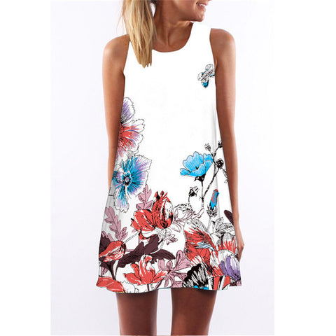 Image of Summer Mini Casual Party Dress