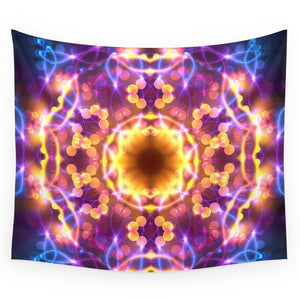 Neon Lights RAVE Throw Blanket | Wall Tapestry