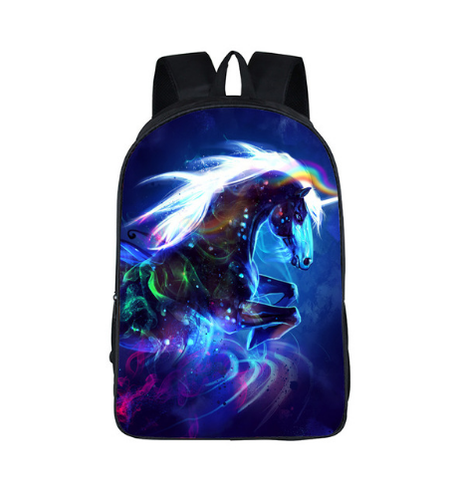 Image of Galaxy 3D Universe Unicorn  Backpack
