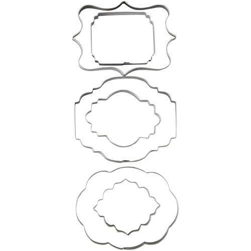 Wilton 417-7555 Fondant Cut-Outs 6/Pkg-Plaque: Kitchen & Dining