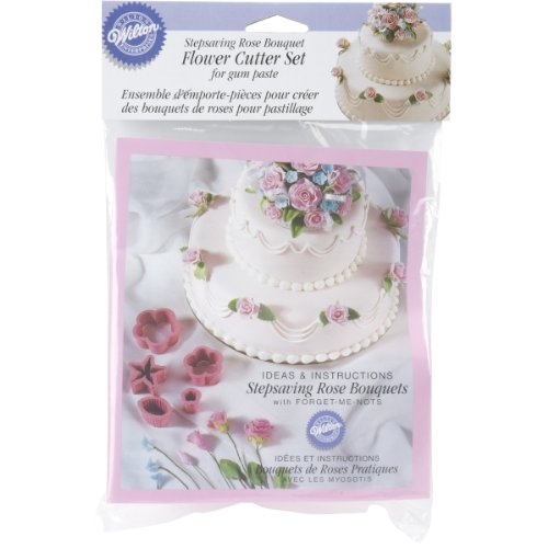 Wilton Stepsaving Rose Bouquets Flower Cutter Set: Flowers And Roses Fondant Cutters Set: Kitchen & Dining