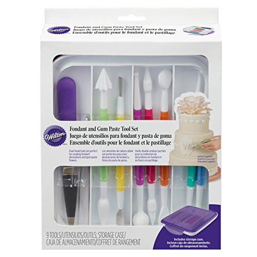 Wilton 1907-1350 Fondant & Gum Paste Tool Set: Kitchen & Dining
