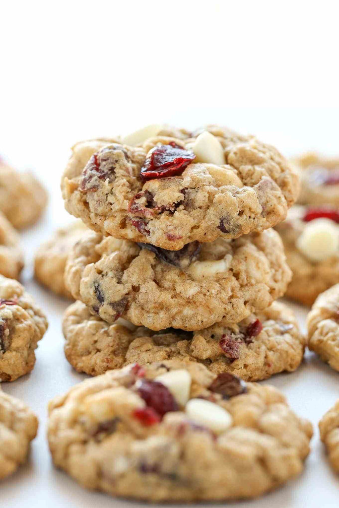Oatmeal Raisin Cookie with White Chocolate and Cranberries
