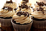 German Chocolate Cupcake with Cream Cheese Frosting