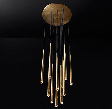 Brushed Brass Round Chandelier