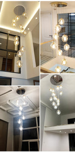Concave Glass Chandelier