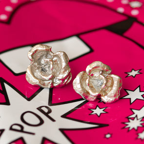 Roma rose earrings