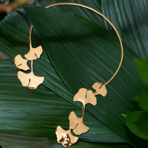 Palermo ginkgo necklace
