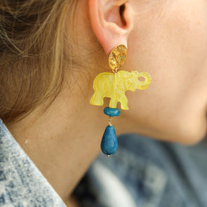 Adriana elephant earrings