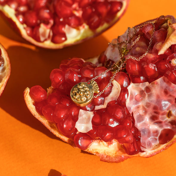Melita pomegranate necklace
