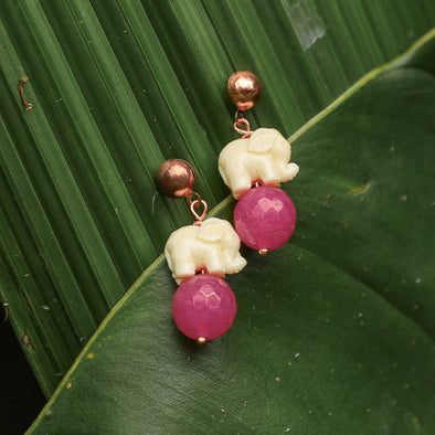Domizia elephant earrings