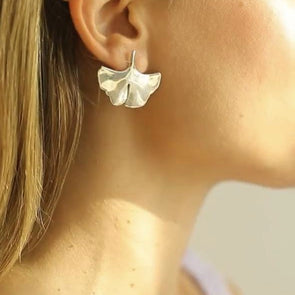 Palermo Maxi ginkgo earrings