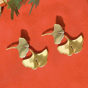 Palermo ginkgo earrings