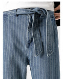 Men's Loose Denim Fit Pants - Blue