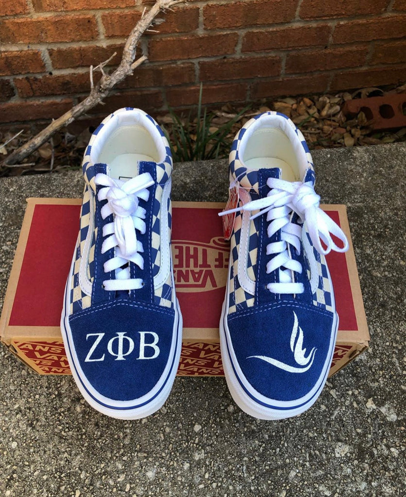 Zeta Phi Beta Checkerboard Vans
