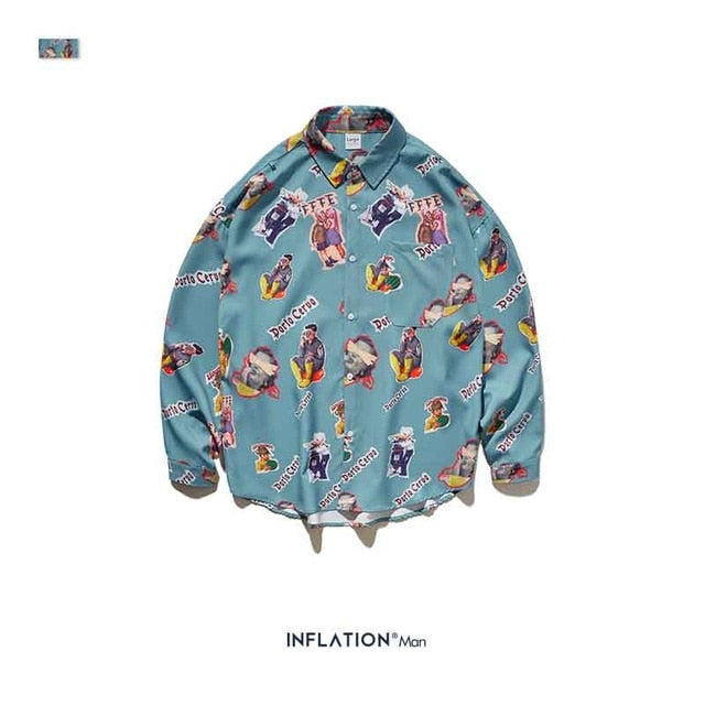 INFLATION Mens Hawaiian Shirt