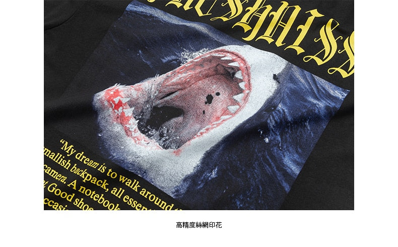 SODAWATER Men's Animal Shark Print Tee
