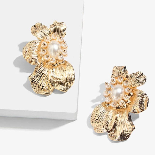 Blossom Gold Plated Earrings