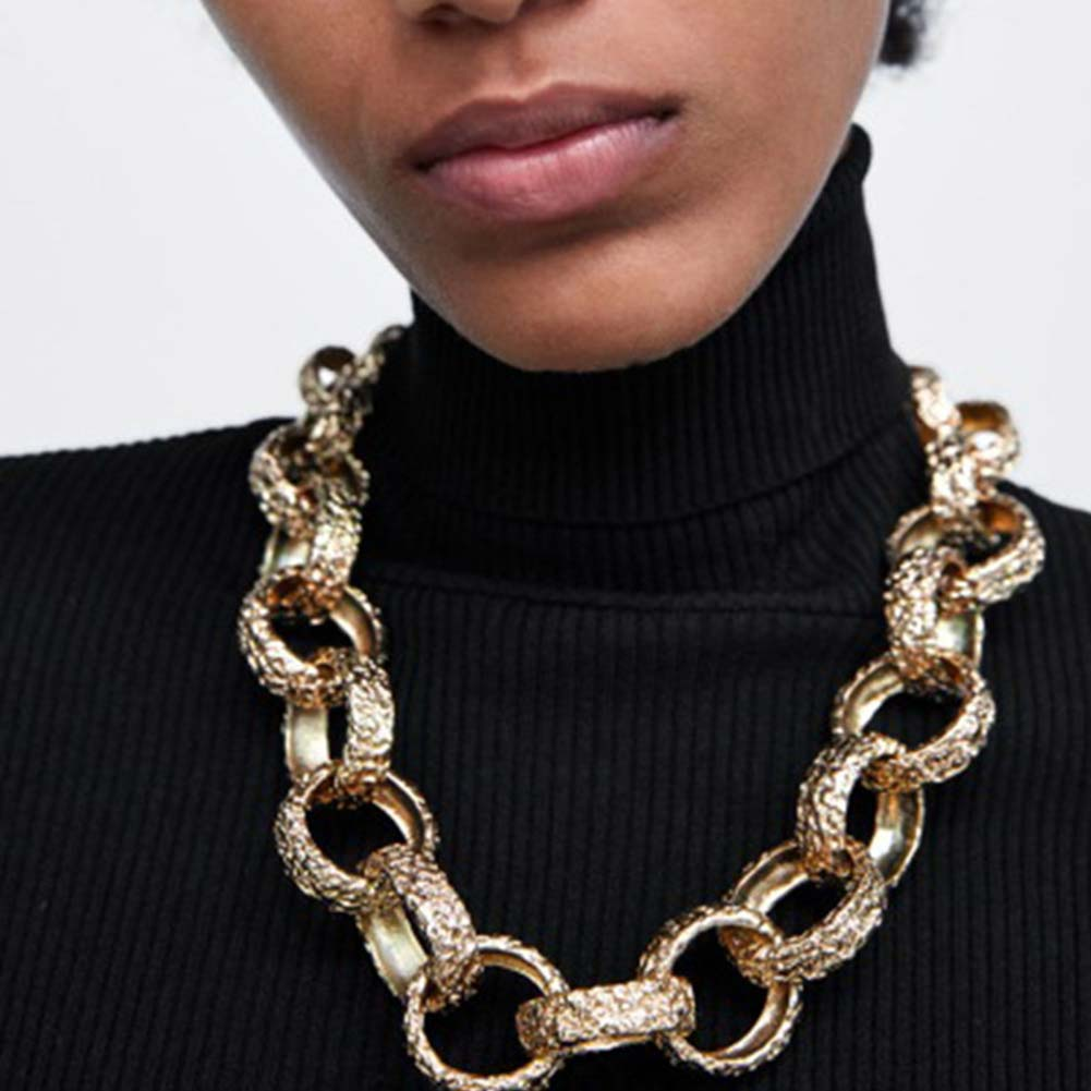 Golden Hooped Necklace