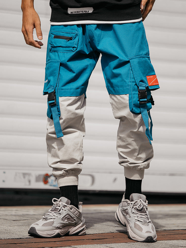 Patchwork Casual Cargo Pants