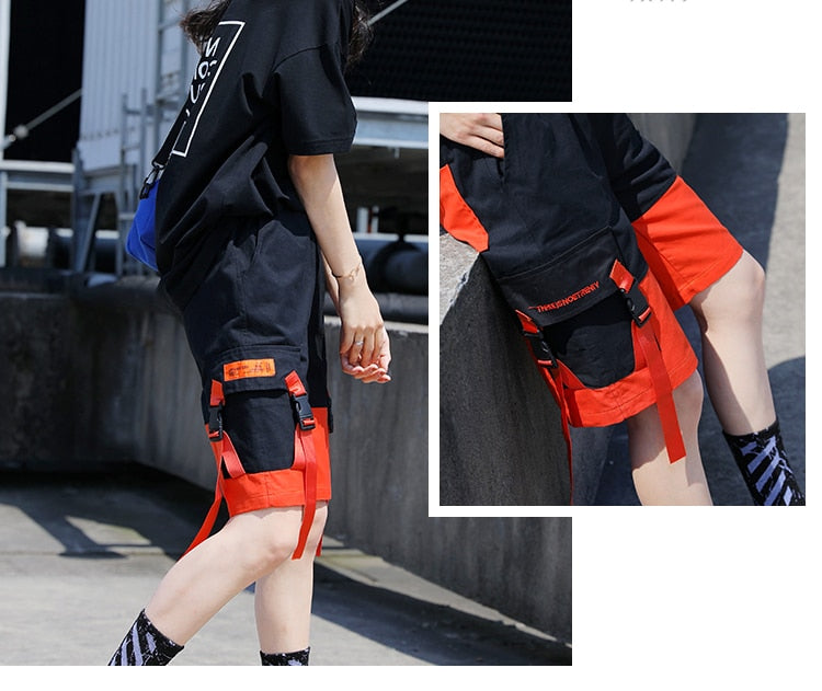Patchwork Casual Cargo Shorts