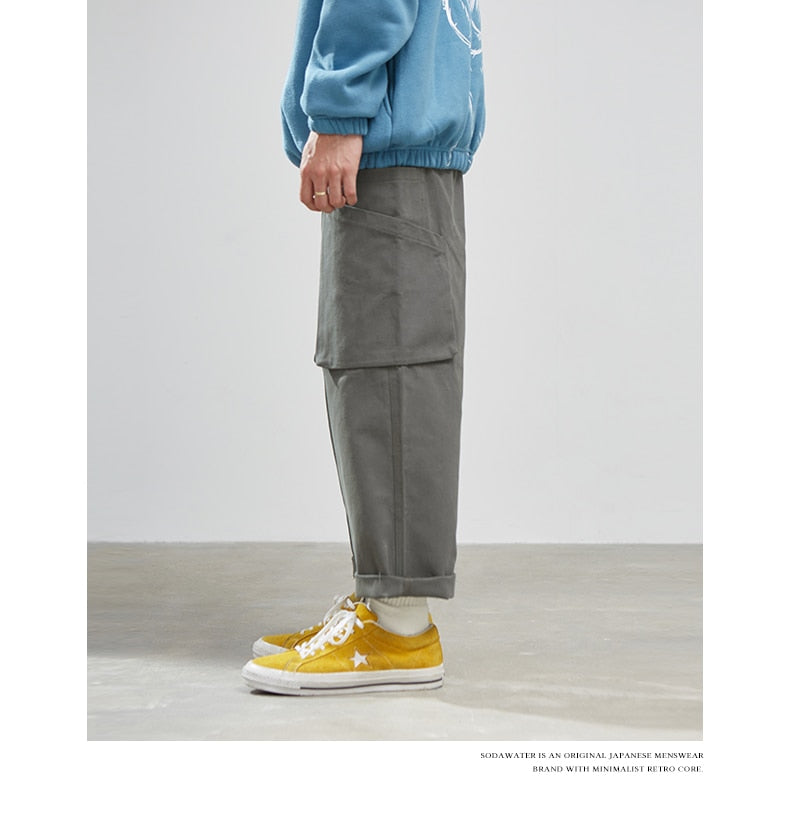 SODAWATER Vintage Solid Cargo Pants