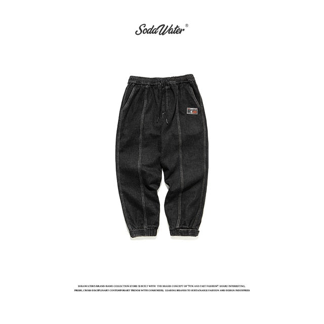 SODAWATER Men Retro Solid Jeans