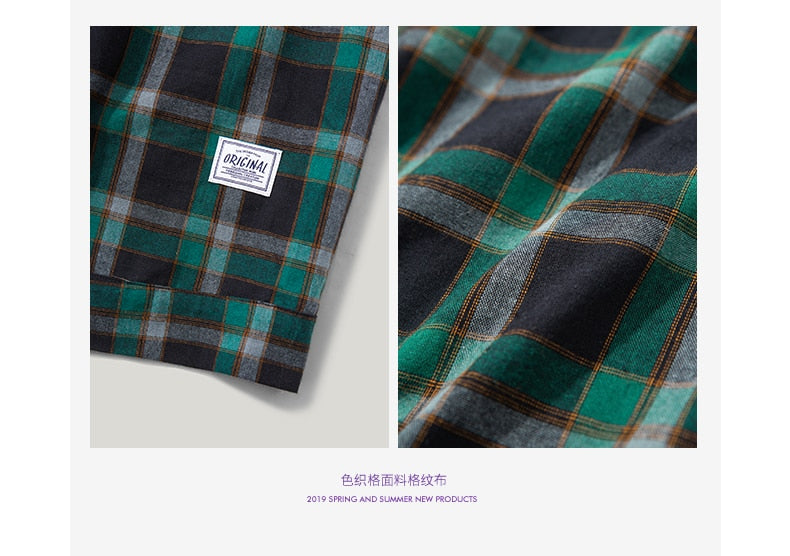 SODAWATER Oversize Check Casual Plaid Shirt