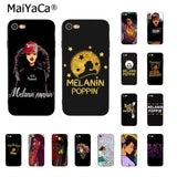 Afro Black Girl Magic Queen Melanin Poppin Phone Accessories Case for iphone 12 11 Pro XS MAX XS XR 8 7 6 Plus 5 5S SE