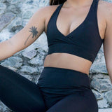 Women's Solid Yoga Set - Black