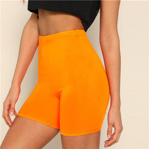 High Waist Cycling Short - Orange