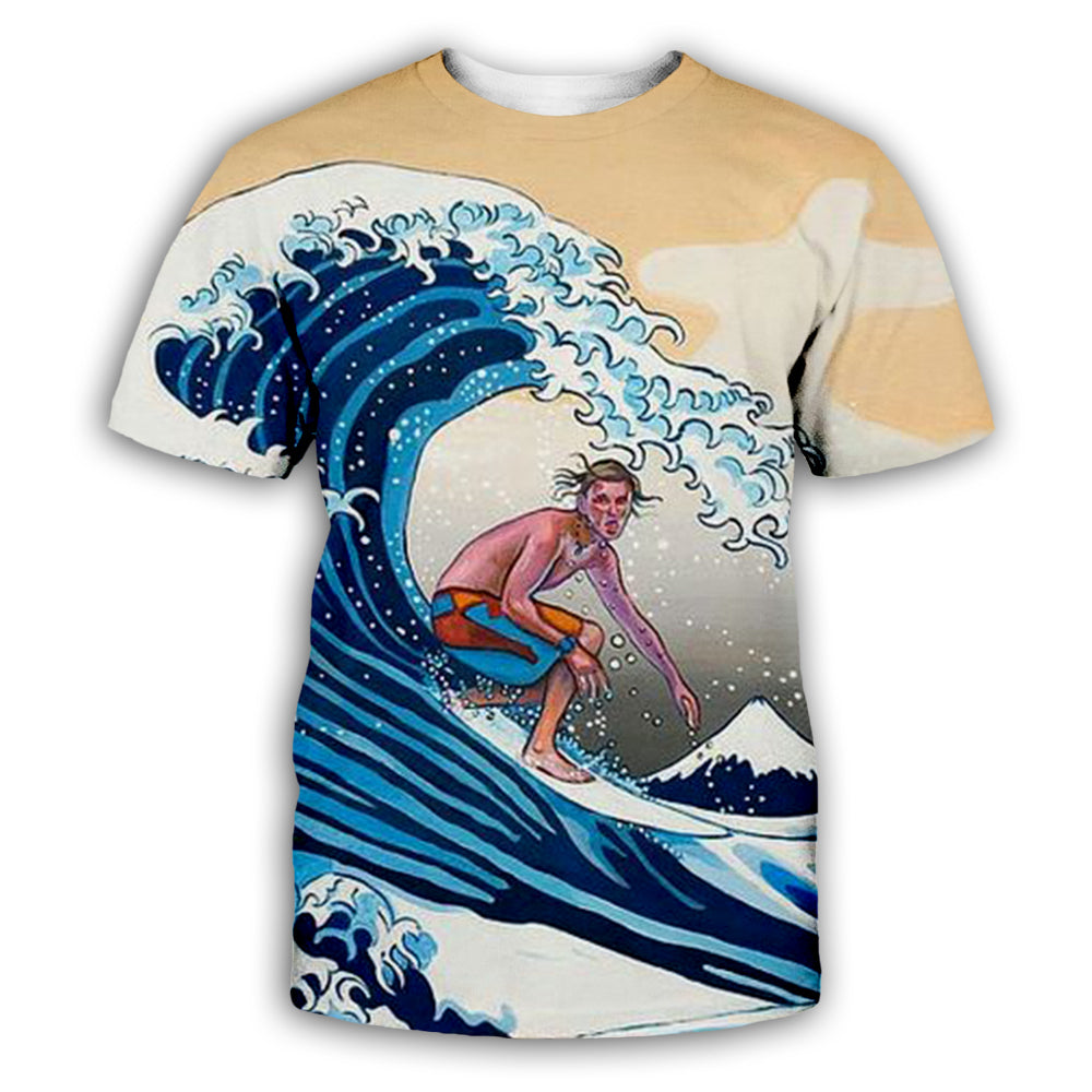 Wave 3D All Over Printed Art Shirts For Men & Women - PLstar VK