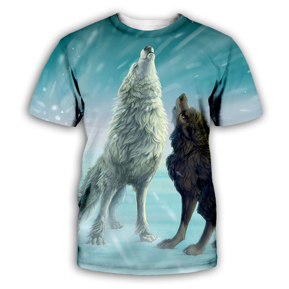 Wolf 3D All Over Printed Art Shirts For Men & Women