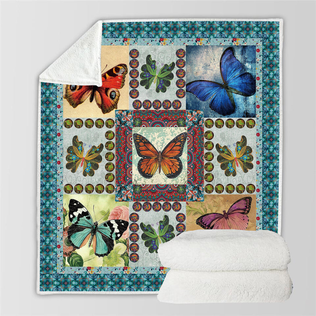 Insect 3D All Over Printed Square Blanket