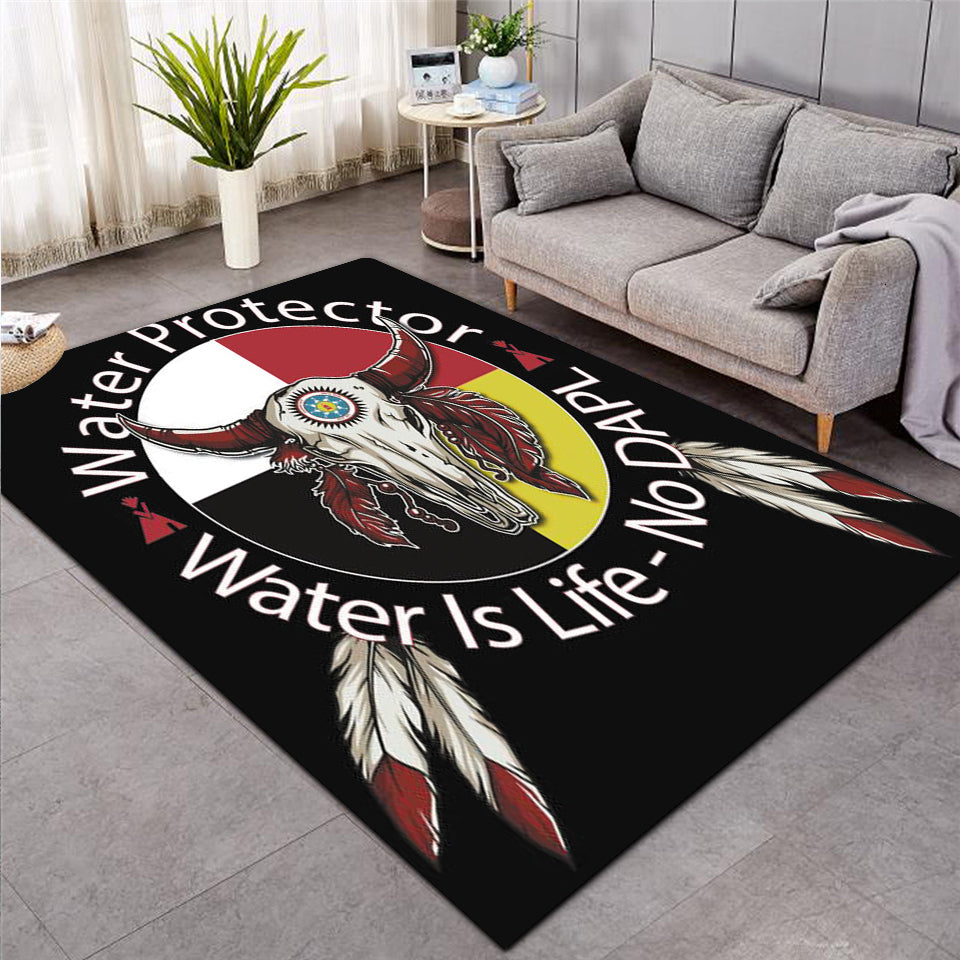Native Bison Skull Rug - PLstar VK