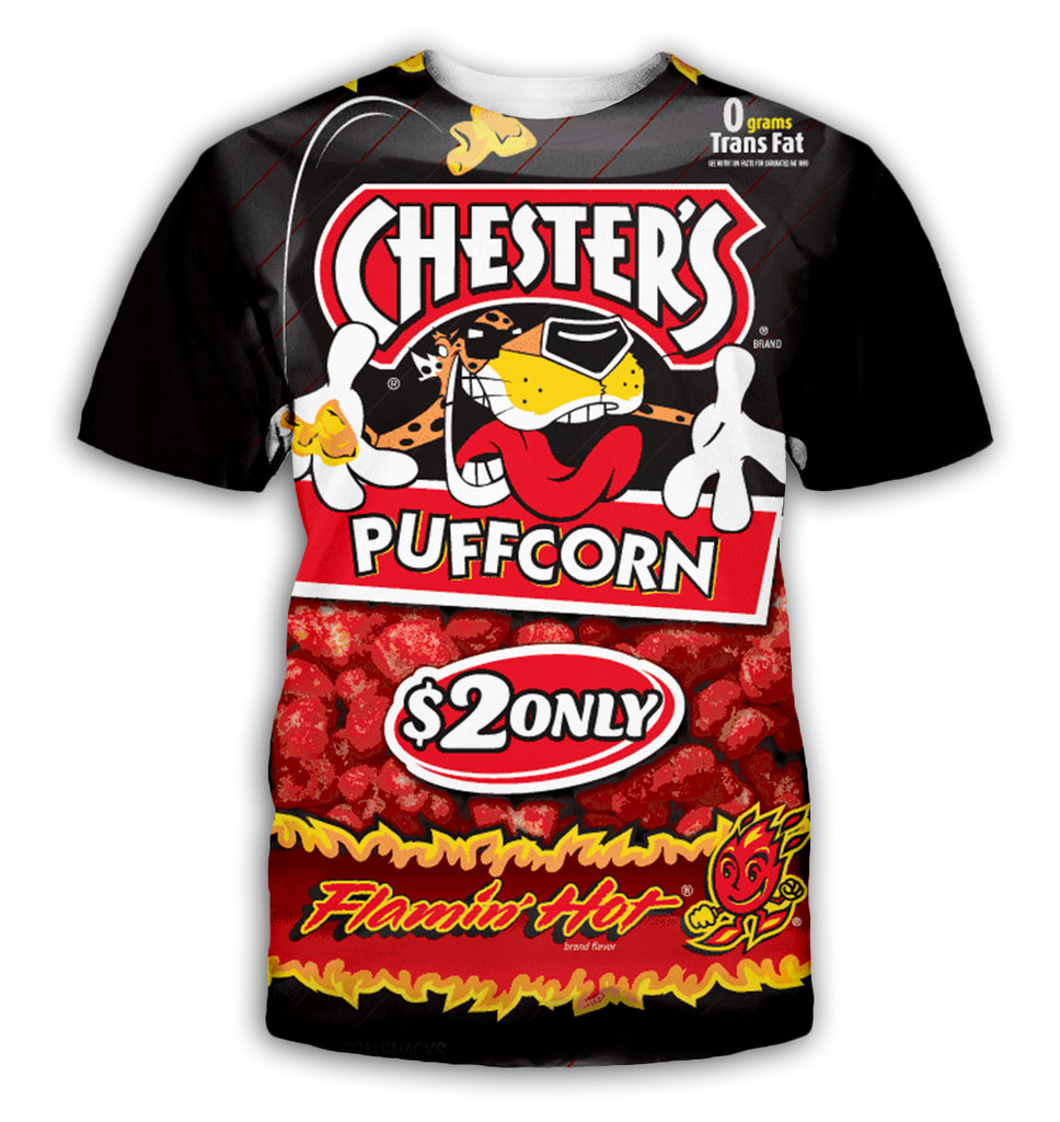 Puffed Food 3D All Over Printed Shirts For Men & Women