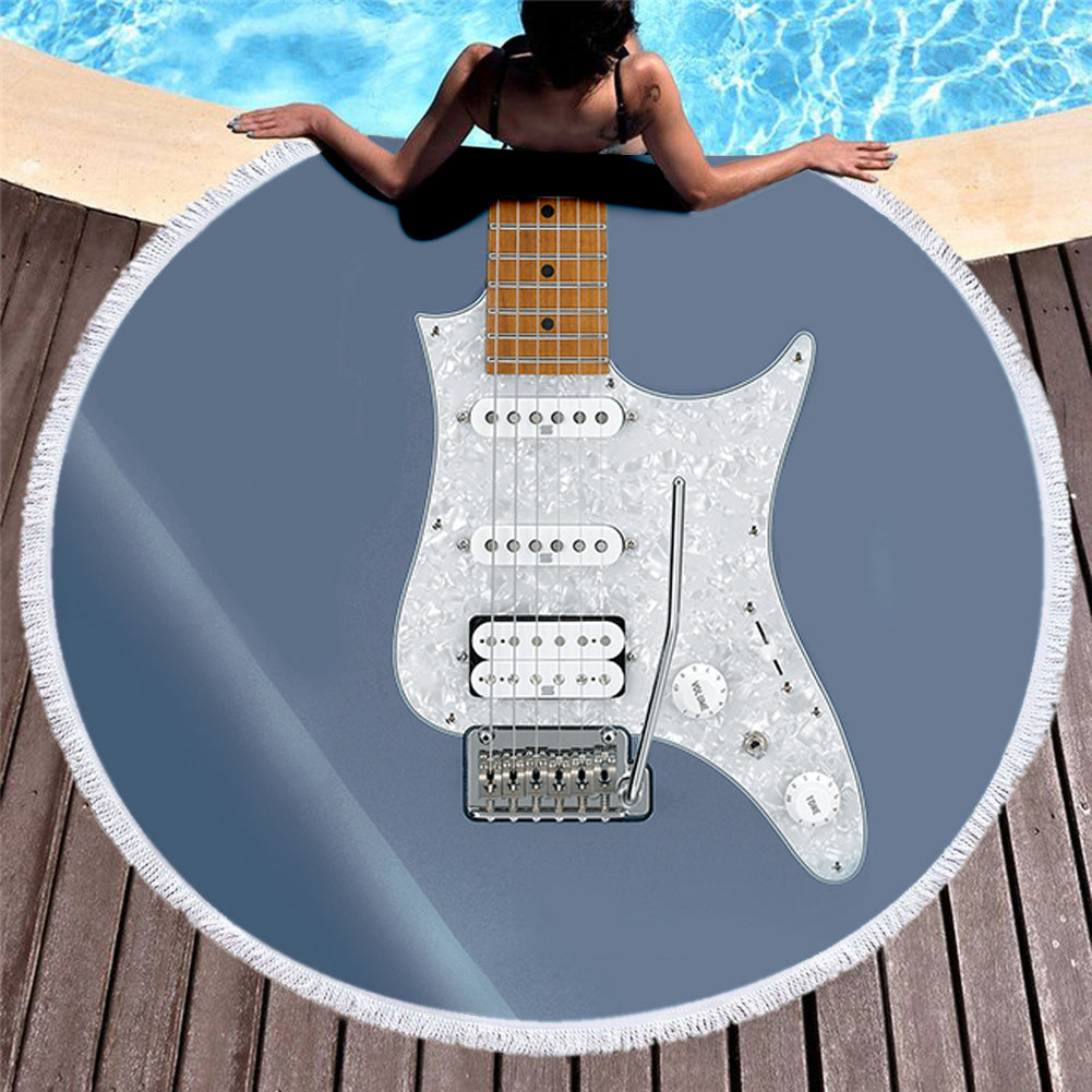 Guitar 3D All Over Printed Beach Blanket