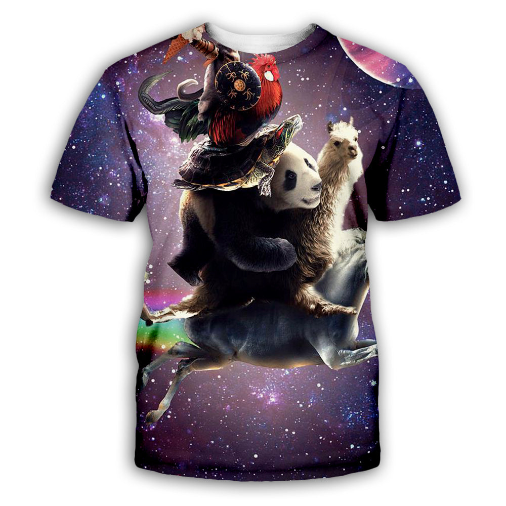 Crazy Animal 3D All Over Printed Art Shirts For Men & Women - PLstar VK