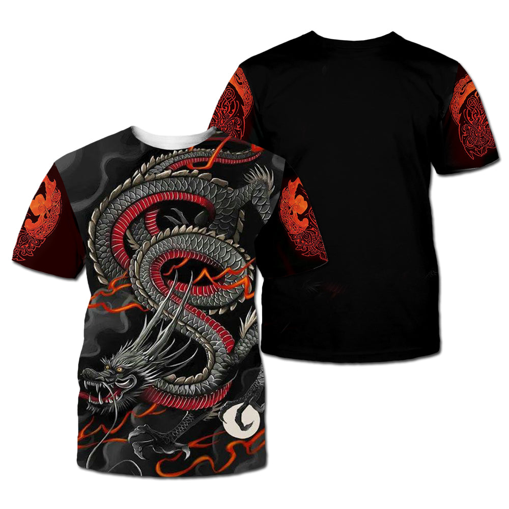 Chinese Dragon Tattoo Pattern 3D All Over Printed Shirts For Men&Women - PLstar VK
